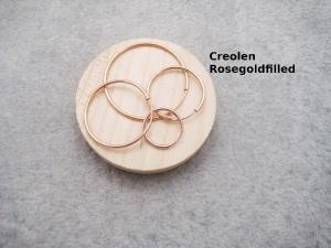 Creolen, für Wechsel-Ohrringe, Rosegoldfilled, 12mm, 14mm, 20mm, 24mm, 30mm  - Handarbeit kaufen
