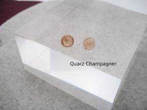 Wechsel-Ohrring-Anhänger Quarz, Champagner Quarz, Creole, 925 Silber, Rosegold Filled, Gold Filled, Edelsteinohrringe - Handarbeit kaufen