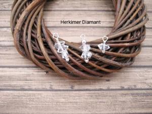 Wechsel-Ohrring-Anhänger Diamant, Herkimer Diamant, Nugget, Creole, 925 Silber, Rosegold Filled, Gold Filled, Edelsteinohrringe - Handarbeit kaufen