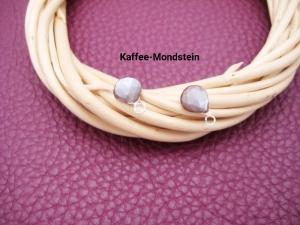 Wechsel-Ohrring-Anhänger Mondstein, Kaffee-Mondstein, Creole, 925 Silber, Rosegold Filled, Gold Filled, Edelsteinohrringe - Handarbeit kaufen