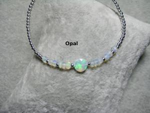 Opal-Armband, Silberperlen, Welo Opal, natürlicher Opal, Rondelle, zierlich, 925 Silber, Goldfilled, Rosegoldfilled - Handarbeit kaufen