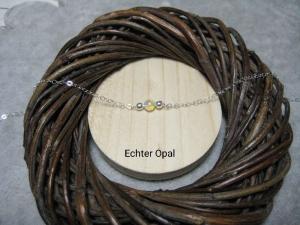 Mini-Opalarmband, Welo Opale, 925 Silber, Gold Filled, Rosegold Filled, natürlich, zierlich, minimalistisch, Edelsteinkette