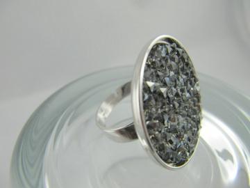 Ring Crystal Rocks Crystal Silver Shade