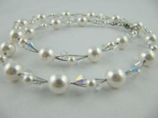 Coller Perlen Weiß Braut Hochzeit (415) - Handarbeit kaufen