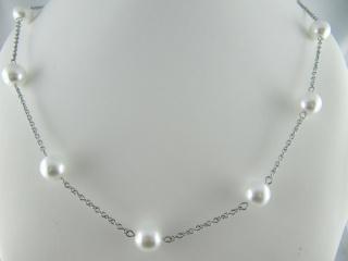 Gliederkette Weiß Perlen  (490) - Handarbeit kaufen
