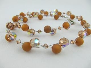 Collier Braun Hellbraun Polaris Perlen (212) - Handarbeit kaufen