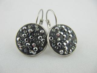 Ohrringe Schwarz Grau Graphite - Handarbeit kaufen