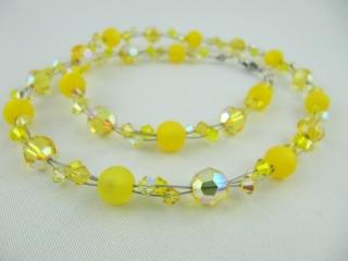 Collier Gelb Polaris Perlen (514) - Handarbeit kaufen
