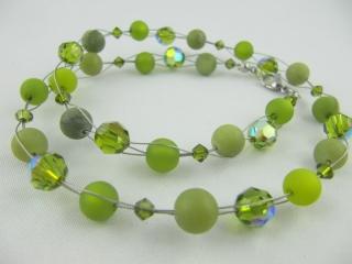 Collier Oliv Grün Polaris Perlen (517) - Handarbeit kaufen