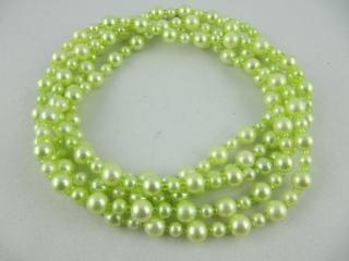 Lange Kette Perlen Hellgrün Grün (246)