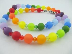 Kette Polariskette Regenbogen Bunt Polaris Perlen (572) - Handarbeit kaufen