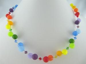 Kette Collier Polariskette Regenbogen Polaris Perlen (512) - Handarbeit kaufen