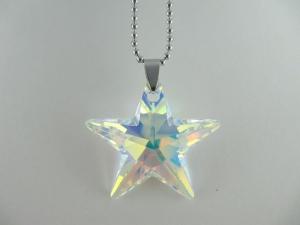 Kette Stern Crystal AB (643)  - Handarbeit kaufen