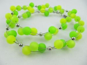 Kette / Collier Grün Polaris Perlen Polariskette (548) - Handarbeit kaufen