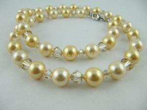Kette Perlen Gold (591) - Handarbeit kaufen