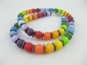 Kette Regenbogen Bunt Polaris Perlen (593) - Handarbeit kaufen