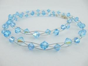 Kette / Collier Blau Hellblau (197)  - Handarbeit kaufen