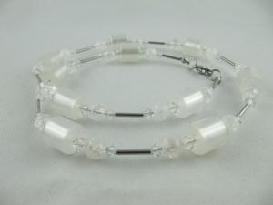 Kette Polaris Bergkristall Weiß Polariskette (622) - Handarbeit kaufen