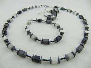 Schmuckset Würfel Polaris Kette Armband und Ohrringe (623) - Handarbeit kaufen
