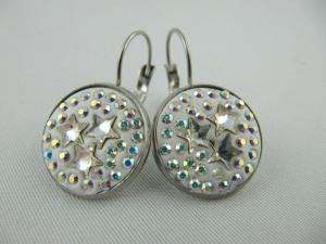 Ohrringe Ohrhänger Crystal Sterne - Handarbeit kaufen