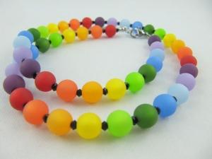 Kette Regenbogen Bunt Polaris Perlen Polariskette (566) - Handarbeit kaufen