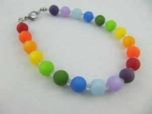 Armband Regenbogen Bunt Polaris Perlen (566) - Handarbeit kaufen