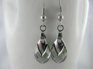 Ohrringe Tropfen Black Diamond (644) - Handarbeit kaufen