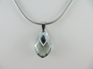 Kette Tropfen Black diamond (644) - Handarbeit kaufen