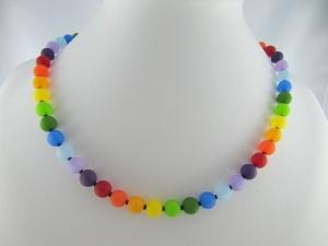 Kette Regenbogen Bunt Polaris Perlen Polariskette Regenbogenkette (510)  - Handarbeit kaufen