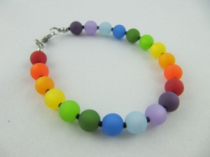 Armband Regenbogen Bunt Polaris Perlen (510)  - Handarbeit kaufen