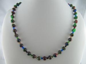 Kette Perlen Quarzit Bunt  (646) - Handarbeit kaufen