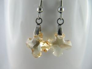 Ohrringe Griechisches Kreuz Crystal Golden Shadow (644) - Handarbeit kaufen
