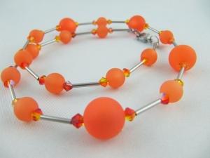 Kette Orange Polaris Perlen Polariskette (600)  - Handarbeit kaufen