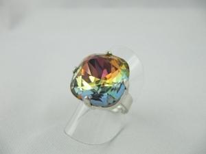 Großer Ring Crystal Volcano Blau / Topaz (R14) - Handarbeit kaufen