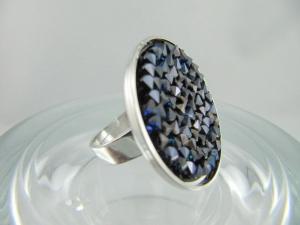 Ring Crystal Rocks Crystal Bermuda Blue - Handarbeit kaufen