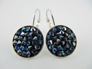 Ohrringe Crystal Rocks Crystal Bermuda Blue - Handarbeit kaufen