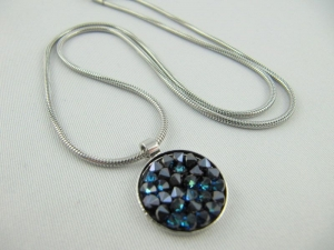 Kette mit Anhänger Crystal Rocks Crystal Bermuda Blue - Handarbeit kaufen