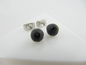 Ohrstecker Perlen Schwarz Polaris - Handarbeit kaufen