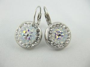 Ohrringe Weiß Crystal AB - Handarbeit kaufen