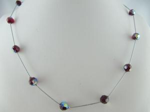 Kette Perlen Rot  Rote Perlenkette (596) - Handarbeit kaufen