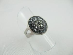 Ring Schwarz Grau glitzer - Handarbeit kaufen