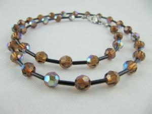 Kette Braun Perlen (587) - Handarbeit kaufen