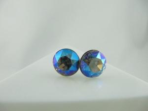 Ohrstecker Chaton Black Diamond Shimmer - Handarbeit kaufen