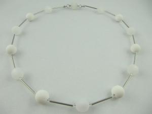 Kette Polaris Perlen Weiß Polariskette (513) - Handarbeit kaufen
