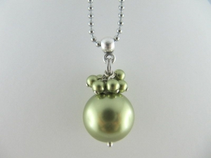 Lange Kette Perlen Grün Hellgrün (150) - Handarbeit kaufen