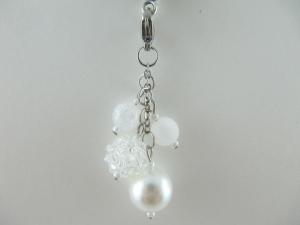 Anhänger Charm Perlen Weiß Perlenanhänger - Handarbeit kaufen