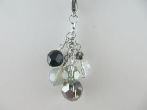 Anhänger Charm Perlen Schwarz Weiß Perlenanhänger - Handarbeit kaufen