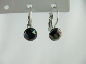 Ohrringe Brisur Kristalle Rainbow Dark - Handarbeit kaufen