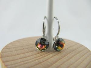 Ohrringe Brisur Kristalle Crystal Volcano - Handarbeit kaufen