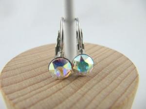 Ohrringe Brisur Kristalle Crystal AB - Handarbeit kaufen